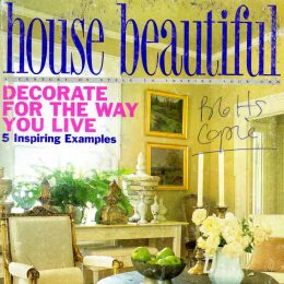Blott Kerr-Wilson, 'House Beautiful', magazine feature