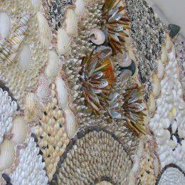 Blott Kerr-Wilson, 'Shell Cabin', detail of wall shell work